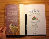 "First Edition of ""Relish,"" sketched and signed by the author"