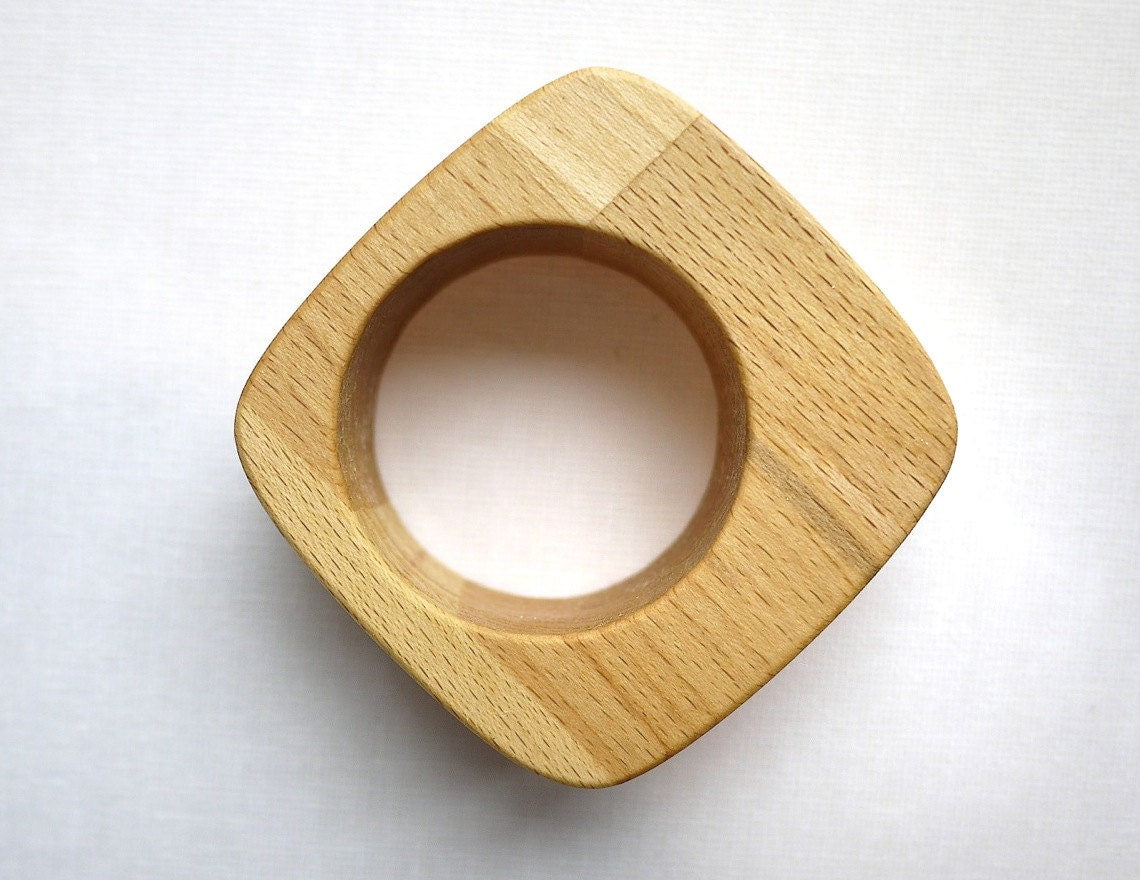 Wooden Egg Cups - 2 Cool 50s Style Egg Holders