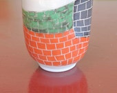 Small Pinched In Vessel with Brickwork