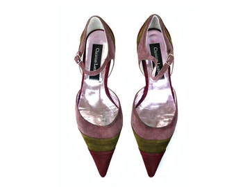 French Vintage Christian Lacroix Shoes / Kitten Heels