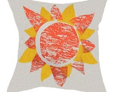 Throw Pillow Cover - 'Sun'