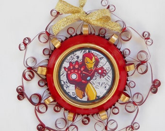Iron Man Ornament Recycled from Aluminum Can
