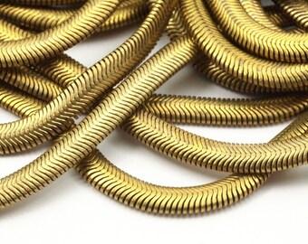 Brass Snake Chain, 2 M Raw Brass Snake Chain (4mm) -  ( Z071 )