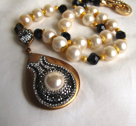 sale deco pearl necklace large akoya sea pearl necklace