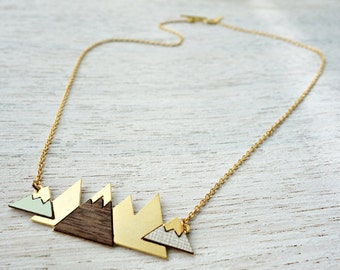Short Arctic Necklace, signature necklace, snowy mountain pendant, Scandinavian design