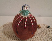 Vintage Beaded Doll Pin Cushion (5521)