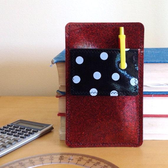Nerd Power Vinyl Pocket Protector In Deep Red By Annebvinyl