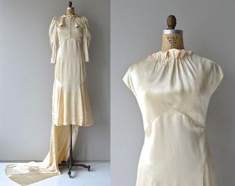 Osborne House wedding gown | vintage 1930s wedding dress • silk 30s wedding gown
