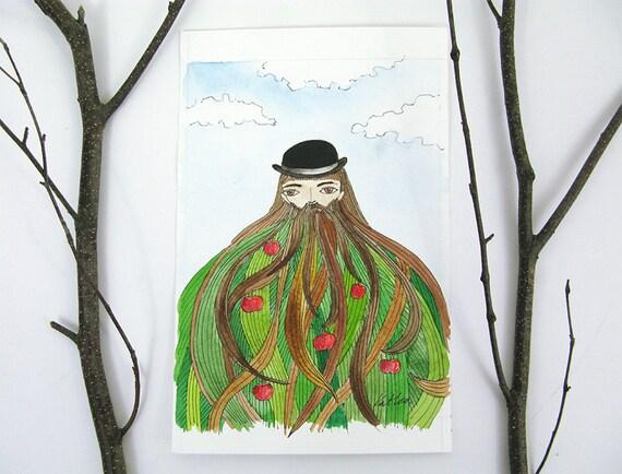 Homme avec chapeau melon images - Tableau chapeau melon pomme verte ...