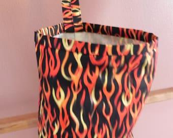 Hot Rod Flames Vinyl-lined Classy Car Trash Bag / Item # CL102