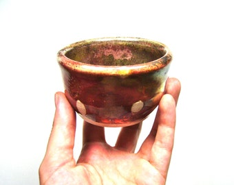 Raku Tea Ceremony Bowl in Copper, Small