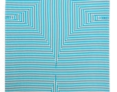Prism - Screen printed tea towel in Turquoise