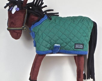Purple Eyed Pony / Bay/ Green Quilted Blanket