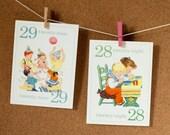 Mini - Vintage Children's 123 Flashcards - Set of 31