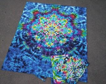 KaleidoDream - Duvet Cover Set  Or  Sheet Set  - with matching  pillow cases - Organic Cotton - Tie Dye