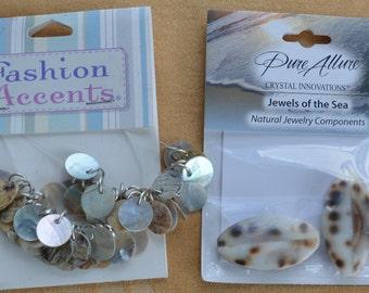 Pretty Shell Bead Lot, Crafts, Supplies, Repurpose, Repurpose, Destash