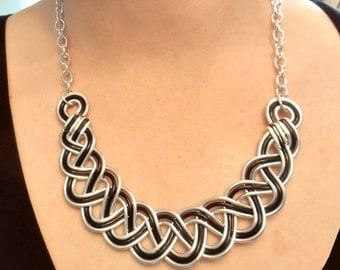 BRAIDED Celtic Necklace Hand Wire Wrapped - Choose Your Own COLORS