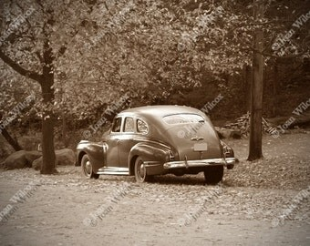 Vintage Buick Automobile Car in Sepia Tone Original Fine Art Photography Print