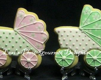 Baby Carriage Cookies - 12 Cookies