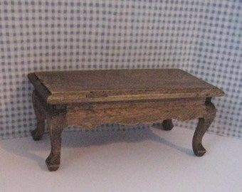 coffee table, country,  twelfth scale,  dollhouse mini