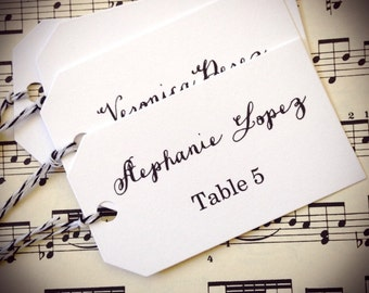 Wedding Escort Cards Tags, Escort Tags, Set of 25