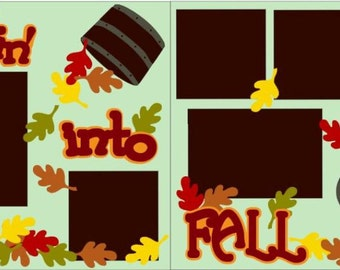 Leapin Into Fall 2-page 12x12 do-it-yourself scrapbook kit