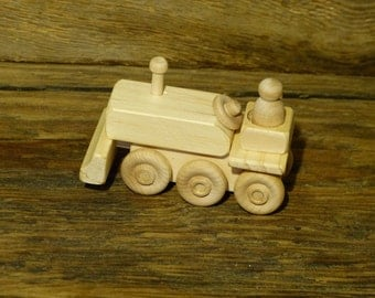 Mini Wooden Toy Bulldozer Crawler Tractor Wood Toys Handmade Earth mover Construction bull dozer John Deere Kids Boys Childs Birthday Gift