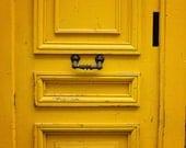 Yellow Door in Paris, Streets of Paris, French Home Decor, Paris Photography, Door photography, paris wall art