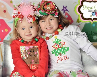 Hot Pink Light Pink Red and Green Christmas Chevron Over The Top Funky Bow Free Shipping On All Additional Items