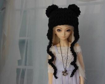 Black Bear Hat for MSD BJD, Minifee MNF, Doll Clothes, Dollfie Animal Hat - Abjd Crochet