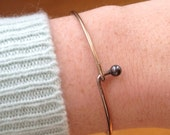 Vintage brass hook bangle, vintage bangle with hook closure,bangle that opens, adjustable bangle