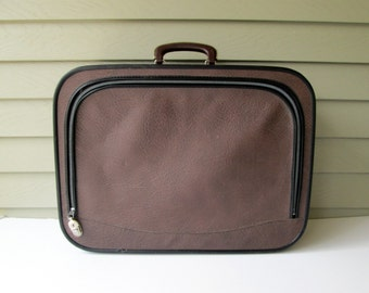 Brown & Black Vintage Suitcase