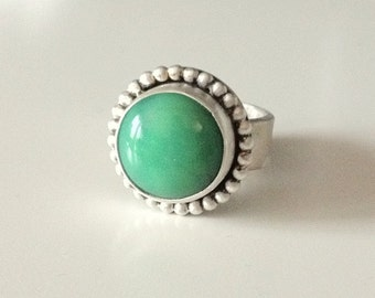 Chalcedony Sterling Silver Ring #414