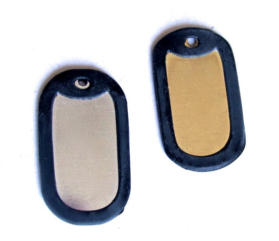 50 Silicone Dog Tag Silencers in Black - Fit our Large Dog Tags