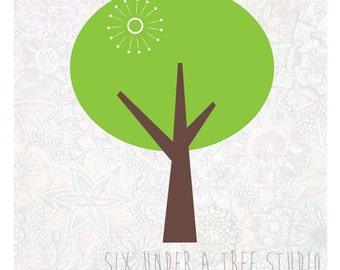 Tree No.1  Wall Vinyl Decals Art Graphics Stickers