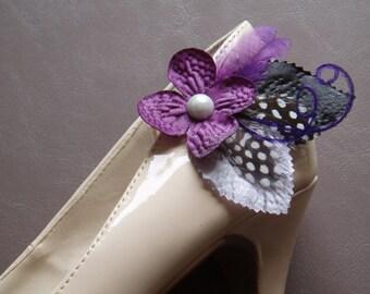 Purple Shoe Clips Wedding Shoeclip Accessories Shoeclips wedding shoes decoration