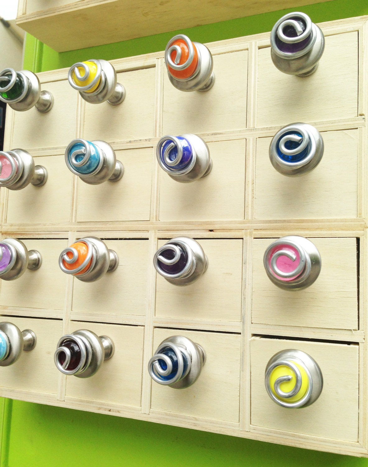 Colorful Glass Cabinet Knobs And Pulls Kitchen Cabinet