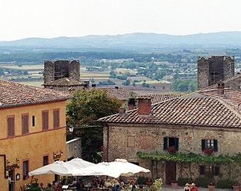Italian Landscape Photography, Travel Photography of Italy, Italian Art, Fine Art Print, Italian Wall Art,Tuscany Piazza Print,Italian Decor