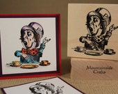 MAD HATTER-Alice in Wonderland  - wood mounted rubber stamp -(MCRS 21-02)