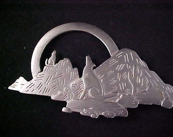 1988 Precious Pewter Southwester Style Designed by J.J. Brooch