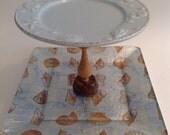 Tiered Pedestal Plates, Buffet Server, Jewelry Holder, Dessert Server, Desk Caddy