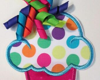 Iron On Applique - Korker Dot Cupcakes