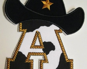 CowGirl or CowBoy Letters and Numbers Iron On Appliques