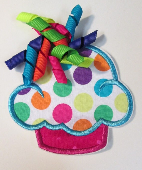 Iron On Applique - Korker Dot Cupcakes