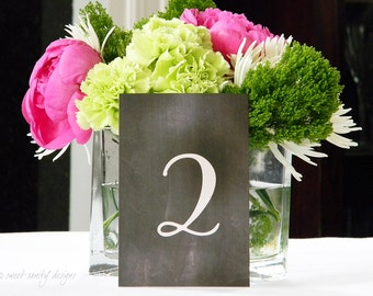 Wedding Table Numbers // Chalkboard Table Numbers