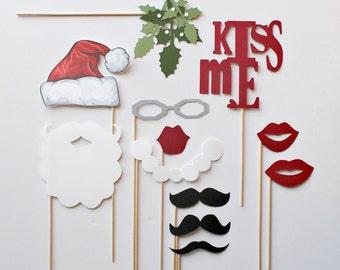 Christmas Photo Booth Props. Holiday Photobooth Holiday Props. Holiday Photo Booth Props. Photo booth Photo Props. Santa Claus. Xmas Minis