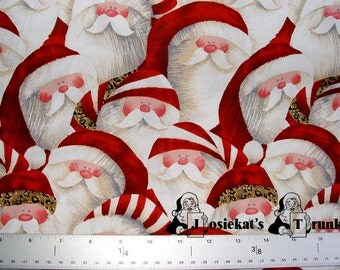 Santa Leopard Red 1 yard 28 inches Fabric Brother Sister Design Zulauf RARE LAST