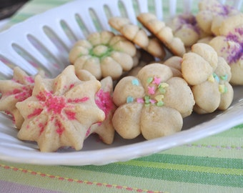 Spring Butter Cookie Flowers - 6 dozen homemade cookies