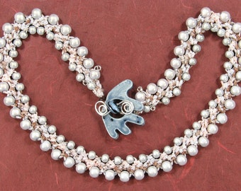 KIT: Side by Side bead crochet necklace