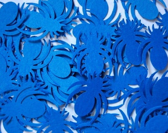 Blue Spider Punch Cut Outs Confetti -- Set of 50 -- Ready to Ship